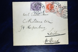 Great Britain: Up Rated Cover London To Leiden Holland, 1899, Michel U 10 - Postwaardestukken