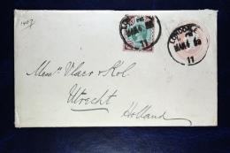 Great Britain: Cover Uprated From London To Utrecht, Holland 1898 - Postwaardestukken