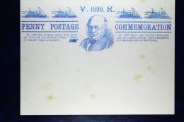 Great Britain: 1890 Penny Postage Commemoration Sheet - Postwaardestukken