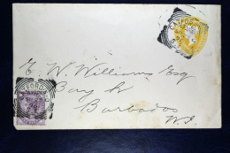 Great Britain: 1892 Private Issued Cover Uprated Catford London To Barbados WI - Postwaardestukken