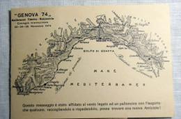 GENOVA --- GENOVA 1974 NON USATA FLIATELICA 25 LIRE AEREO - Genova (Genoa)