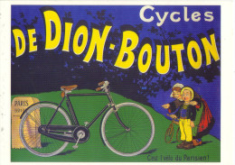 A-77 - CYCLES DE DION-BOUTON  Ma Col. 93-95)  - 2 Scanns . - Advertising