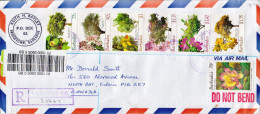 Postal History Cover: Barbados With Flowers And Trees - Trees