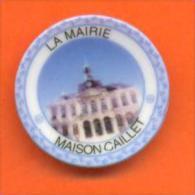"""Feve Assiettine Personnalisée  """"  La Mairie De Chaumont ( 52 ) """" Maison Caillet - Région"""