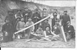 Ouvriers Des Chemins De Fer Prisonniers De Guerre 1 Carte Photo 1914-1918 14-18 Ww1 WWI Wk - War, Military