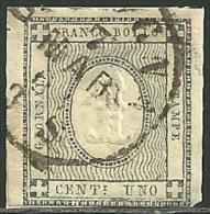 1861 - SARDEGNA - STAMPATI - 1 CENT. - 19a - BOLOGNA - SIGNED - SPL - - Sardaigne
