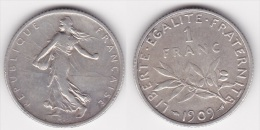 1 FRANC SEMEUSE 1909 En ARGENT (voir Scan) 1 - France