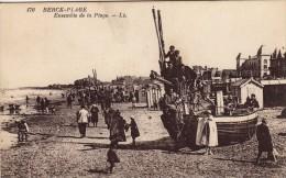 Thematiques 62 Pas De Calais Berck Plage Ensemble De La Plage Bateau De Pêcheurs Animée - Berck