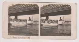 Warszawa.Passenger ship in Visla river.Stereo photo.