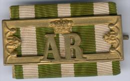 """Sachsen Landwehrdienstauszeichnun g """"AR"""" -Bandschnalle, Zust. II"""