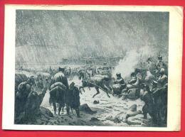 155474 / FRANCE Lithography UNKNOWN ARTIST - ESCAPE NAPOLEON From The Army In 1812 , DEAD HORSE WAR - Russia Russie - Pittura & Quadri