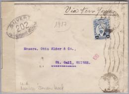 Mexico 1917-03-10 ? Zensur Brief Nach St. Gallen - Mexique