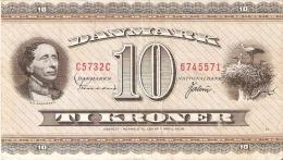 BILLETE DE DINAMARCA DE 10 KRONER DEL AÑO 1973 (BANK NOTE) MOLINO-MOULIN-MILL - Dinamarca