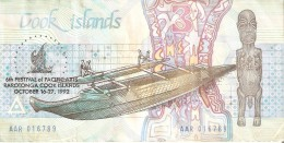 BILLETE DE LA ISLA COOK DE 3 DOLARES CONMEMORATIVO 6º FESTIVAL OF PACIFIC ARTS (BANKNOTE) - Islas Cook