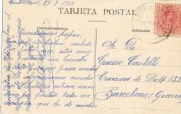 10739. Postal CASTELLTERSOL (Barcelona) 1913. Puente De Esplugas - Cartas