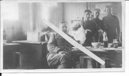 Soldats Américains Pilote De L´us Army à La Préparation Du Repas 1918 1 Photo 14-18 Ww1 WwI Wk - War, Military