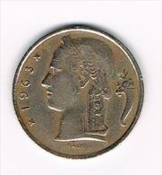 BOUDEWIJN 5 FRANK 1963  VL - 05. 5 Francs