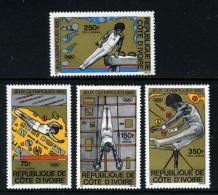 IVORY COAST - 1980 SUMMER OLYMPICS ATHLETICS SET (4V) SG 642-645 FINE MNH ** - Ivory Coast (1960-...)