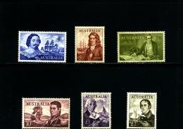 AUSTRALIA - 1963  NAVIGATORS  SET MINT NH - 1952-65 Elizabeth II: IEmissione Prima Decimali