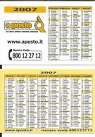 CAL601 - CALENDARIETTO 2007 - A POSTO