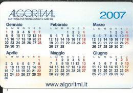 CAL602 - CALENDARIETTO 2007 -ALGORITMI