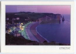 Etretat La Nuit - Seine-Maritime - Utilisée Pour Concours - 2 Scans - Etretat