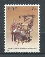 IRLANDE 1986 N° 608  ** Neuf = MNH Superbe  Cote 1,25 € Conseil Syndicats Dublin Portrait Fondateur Linotype - Unused Stamps