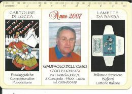 CAL606 - CALENDARIETTO 2007 - GIAMPAOLO DELL'OSSO - COLLEZIONISTA - LUCCA