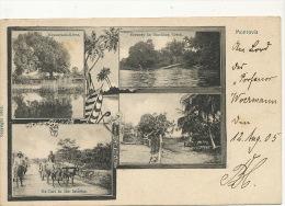 Liberia Pionniere Multi View Monrovia  Messurado River Stockton Creek Ox Cart  German Sea Post 1905 - Liberia