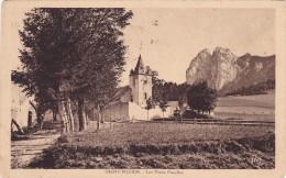 CPA 38 @ SAINT NIZIER De MOUCHEROTTE @ L'Eglise Et Les 3 Pucelles En 1933 - Autres Communes