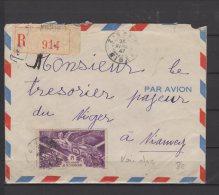 A.O.F  - Belle Lettre Voyagée En Recommandé Pour Niamey - 1947 - A.O.F. (1934-1959)