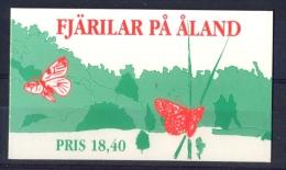 Aland 1994 Butterflies BOOKLET - Papillons