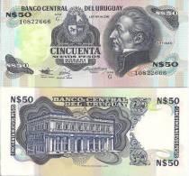 Uruguay P-61A, 50 Nuavo Pesos, Artigas / Estévez Palace...1988 - Uruguay
