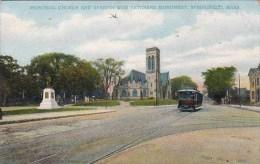 Massachusetts Springfield Memorial Church And Spanish War Veterans Monument