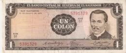 BILLETE DE EL SALVADOR DE 1 COLON DEL AÑO 1973 DE CRISTOBAL COLON   (BANKNOTE) - El Salvador