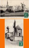 2 Cpa Castelnaudary - Canal Et Moulin / Le Moulin à Vent - Castelnaudary