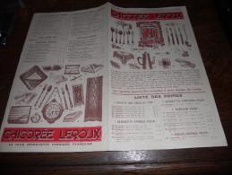 Chicorée Leroux , Liste Des Primes , Juin 1933 - Advertising