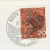 1966 SWITZERLAND COVER Illus WINDISCH AMPITHEATER  Pmk Theatre Deer Pro Juventute - Switzerland