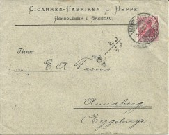ALEMANIA CC 1902 HERBOLZHEIM A ANNABERG MAT AL DORSO TEMA TABACO CIGARROS - Tabaco