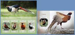 st14410ab S.Tome Principe 2014 Birds Pheasants 2 s/s