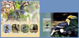 st14406ab S.Tome Principe 2014 Birds Hornbills 2 s/s