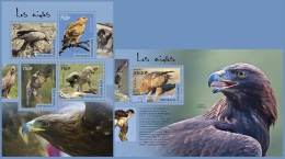 tg14509ab Togo 2014 Birds Eagles 2 s/s