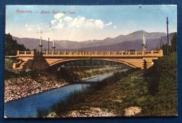 TRENTINO - ROVERETO - NUOVO PONTE DEL LENO - VIAGGIATA  NEL 1915 CON ANNULLI DI ROVERETO E CASALEONE VERONA - Trento