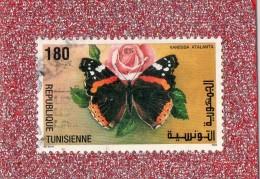REP.  TUNISIENNE  --   PAPILLON.....LE  VANESSA  ATLANTA   --   **  180  **  --  POSTE 1994  --  BEG - Tunisia