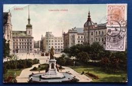 REPUBBLICA CECA - BRNO - LAZANSKEHO NAMESTI- - VIAGGIATA  A TORINO NEL 1908 - Repubblica Ceca