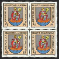 """Österreich 1981  """"800 Jahre St. Nikola A. D. Donau""""  4er-Block  ÖS 4,-  ANK Nr. 1724 **/feinst Postfrisch - 1945-.... 2nd Republic"""