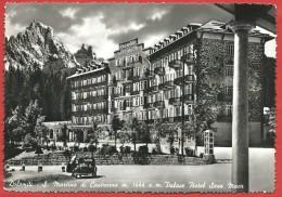 CARTOLINA VG ITALIA - S. MARTINO DI CASTROZZA (TN) - Palace Hotel - Sass Maor - 10 X 15 - ANN. S. MARTINO 1952 - Italia