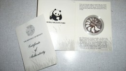 WWF 25th Anniversary Coin Collection - The Republic Of Mexico - Monarch Butterfly - Mexico