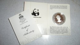 WWF 25th Anniversary Coin Collection - Cayman Islands - Cuban Amazon - Iles Caïmans