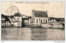 87 - saint-junien - m�gisserie - notre-dame - pont sur la vienne